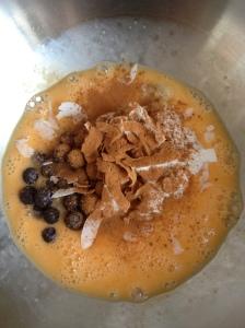 Clean pancake mixture