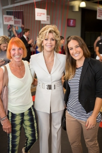 Mum and Daughter with Fitness royalty...