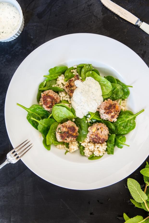 Lamb Meatball Salada | Nadia Felsch