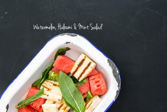 Watermelon, Haloumi & Mint Salad | Nadia Felsch